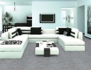 Podlahy, které imitují kámen a textil