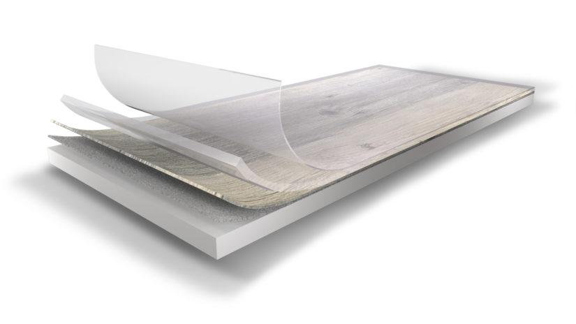 Nášlapná vrstva a PUR vrstva u vinylových podlah