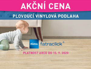 Speciální letní cena plovoucí vinylové podlahy FatraClick
